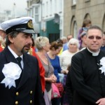 Customs Officer and Vicar in the procession through St Ives