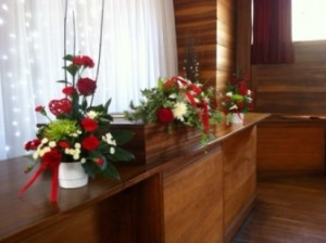flowers & top desk