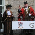 Mayor and Deputy Mayor on the Guildhall balcony