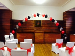 council chamber balloon arch