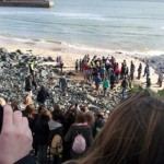 crowd on beach, Hurling Silver Ball