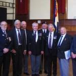 HMS Wave veterans and St Ives representatives of the Royal Naval Association and the Royal British Legion