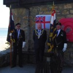 Standard Bearers with the Mayor, Councillor Colin Nicholls