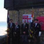 Standard Bearers and representatives of St Ives Royal British Legion
