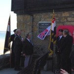 The HMS Wave plaque is unveiled