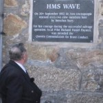 The unveiled plaque.  Photo copyright Colin Sanger