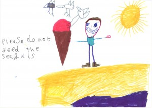 Winning Poster by Fletcher of St Uny School (Infant Winner)