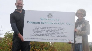 New sign board at Palemon Best Recreation Ground
