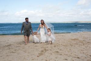 Matt and sarah beach photo