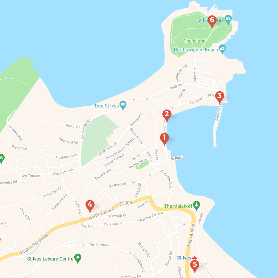 DEFIBRILLATOR Map St Ives Town