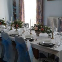 The Committee Room set for a wedding breakfast