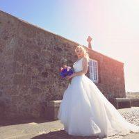 Bride outside St Nicholas' Chapel