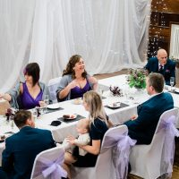 Wedding breakfast in the concert hall, guildhall st ives